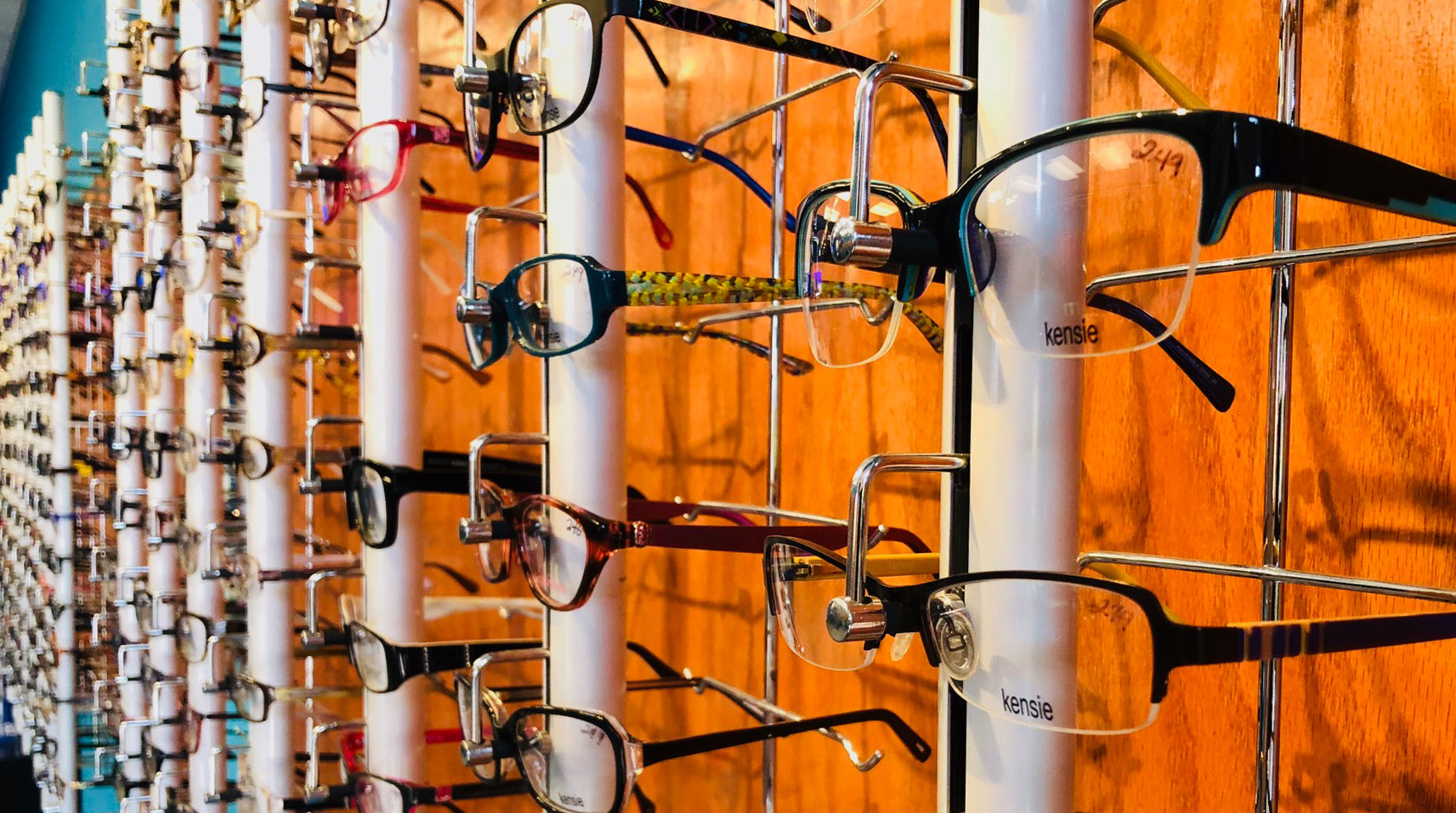 glasses display at Eyeworks of Brookhaven