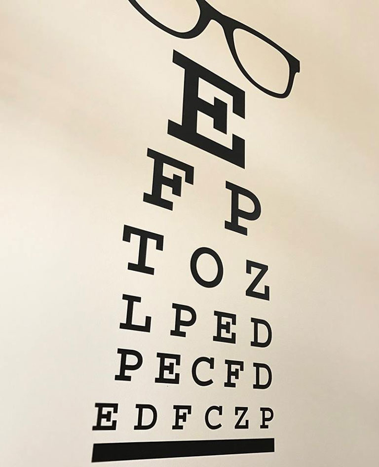 eye test chart at Eyeworks of Decatur
