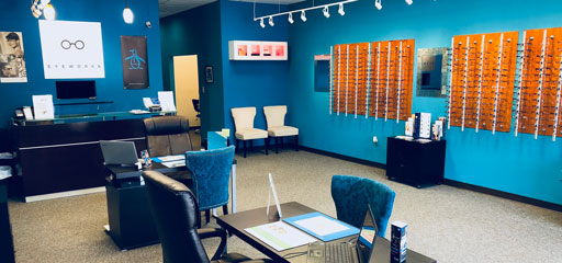front lobby of Eyeworks Brookhaven