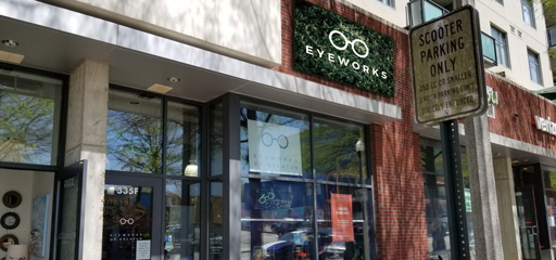 outside Eyeworks of Decatur downtown location